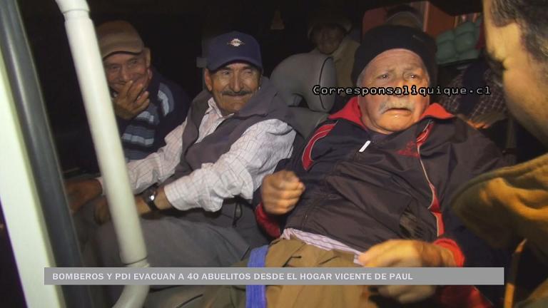 Photo of Bomberos y PDI evacuan a 40 abuelitos