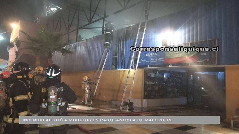Photo of Incendio afectó a modulos en parte antigua del Mall Zofri