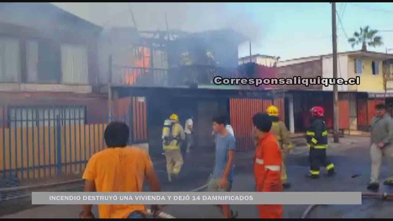 Photo of Un voraz incendio destruyó una vivienda y dejó a catorce damnificados