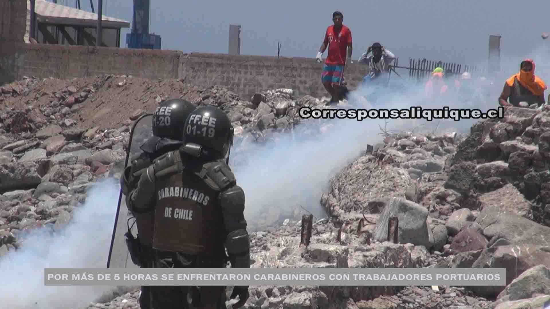 Photo of Trabajadores portuarios se enfrentaron a Carabineros