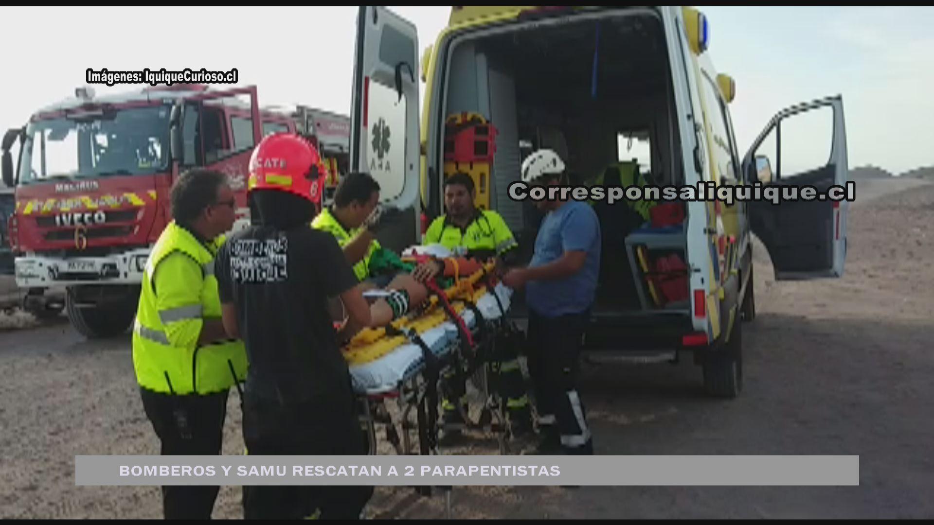 Photo of Bomberos y Samu rescataron a 2 parapentistas caídos en Palo Buque