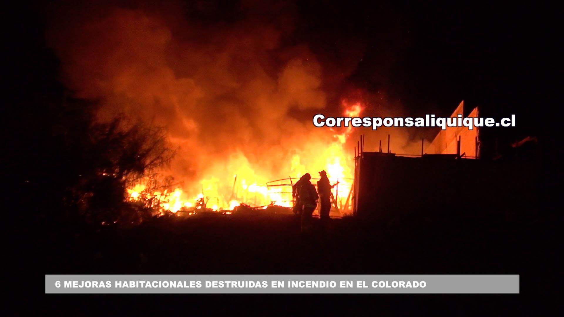 Photo of Incendio destruyó 6 mejoras habitacionales en Toma El Colorado