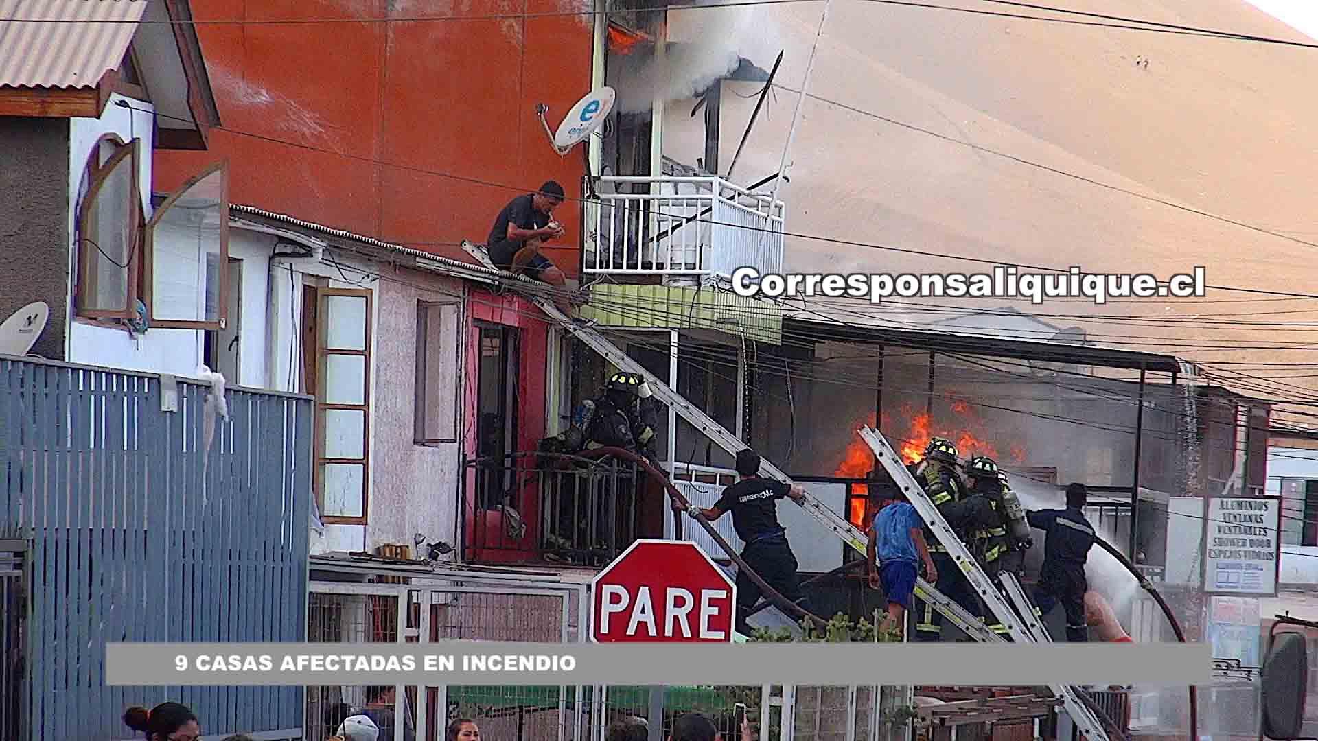 Photo of 9 casas afectadas en incendio