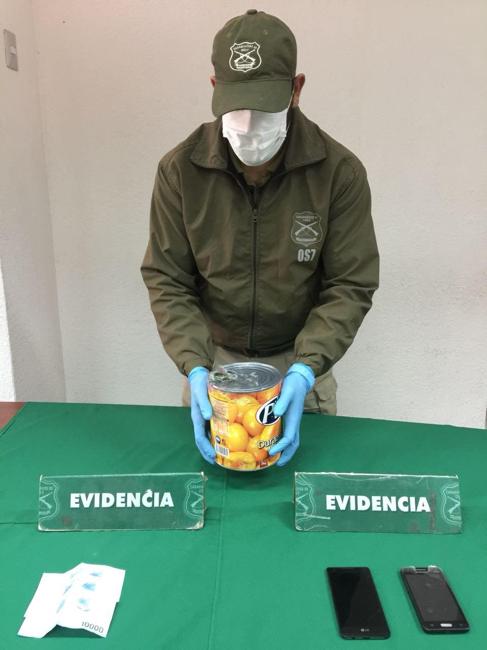 Photo of O.S.7 detecta a boliviana con droga líquida al interior tarro de duraznos