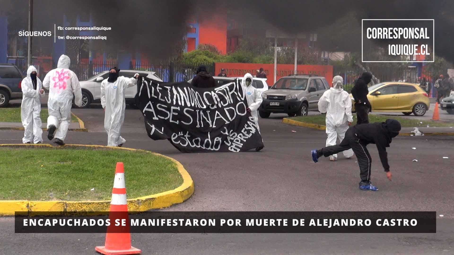 Photo of Encapuchados se manifestaron por muerte de Alejandro Castro