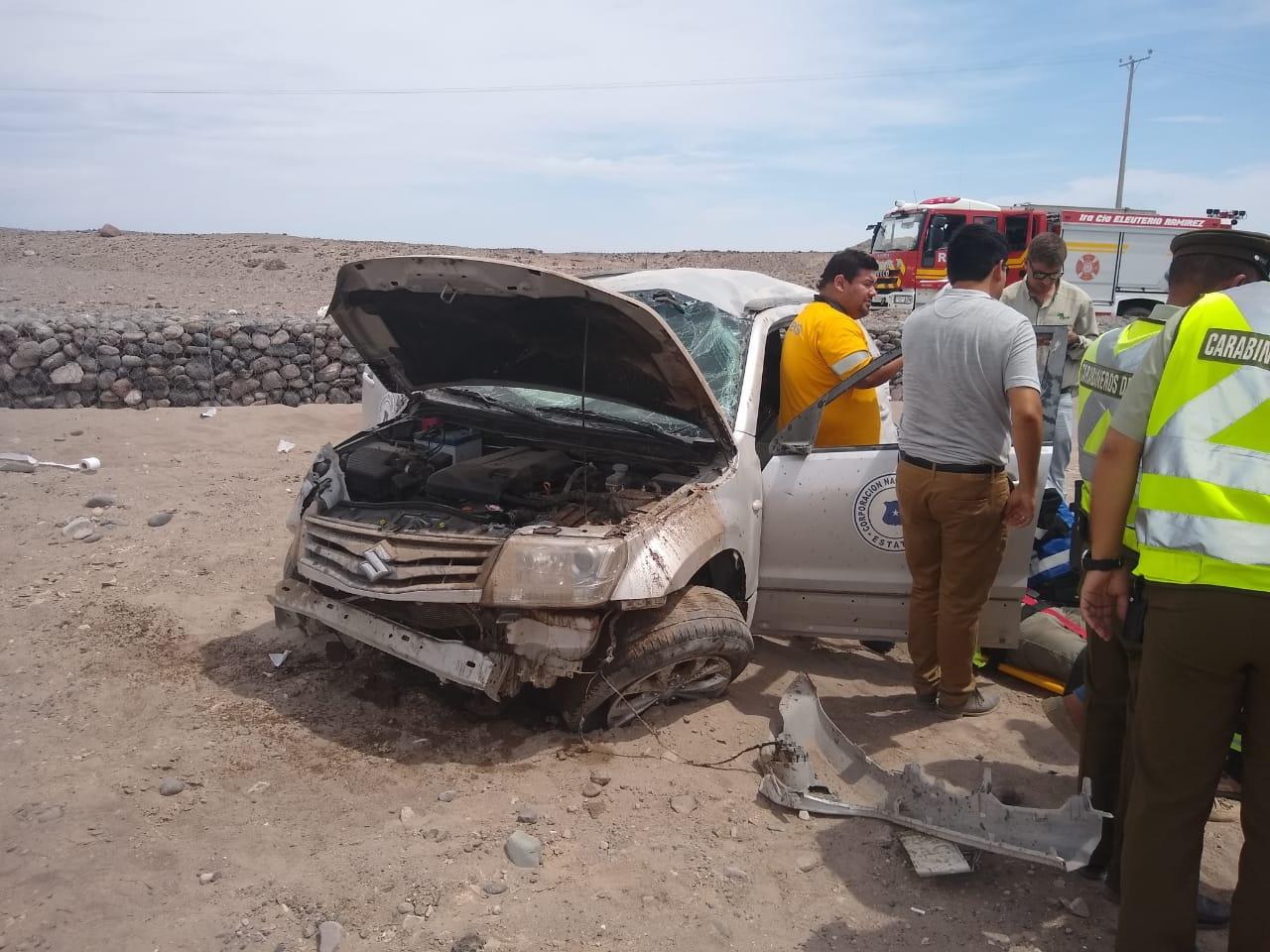 Photo of Funcionarios de la CONAF involucrados en accidente de transito