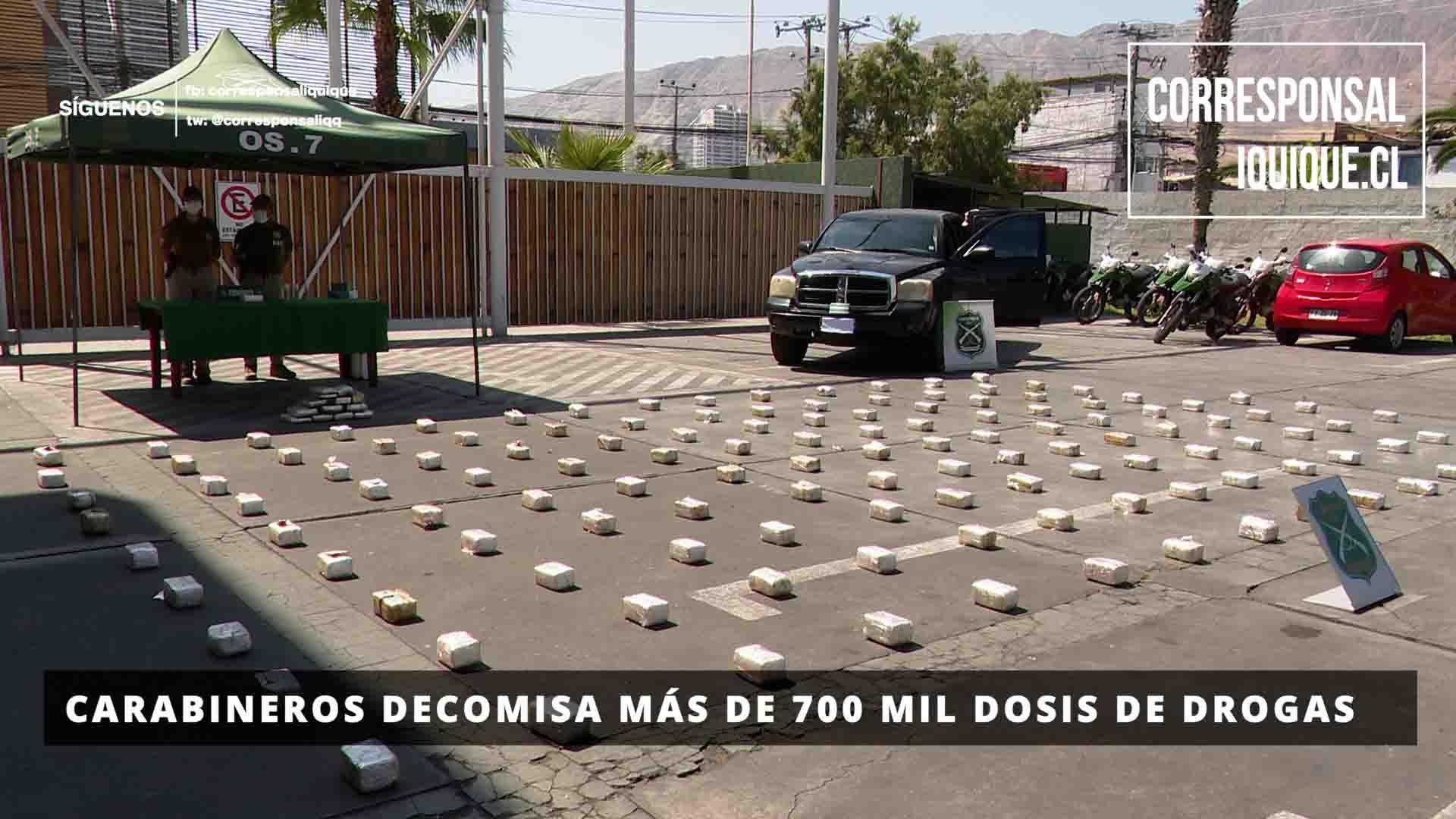 Photo of Carabineros decomisa más de 700 mil dosis de droga