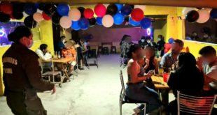 18 detenidos en fiesta clandestina