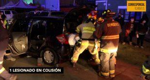 1 lesionado en colisión