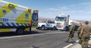 Personal de la PDI involucrados en accidente de tránsito